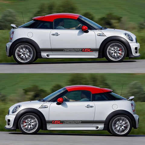 SPK-290 mini cooper coupe roadster r58 r59 racing stripes sticker works decal kit turbo john tuned all4 modified - Infinity270