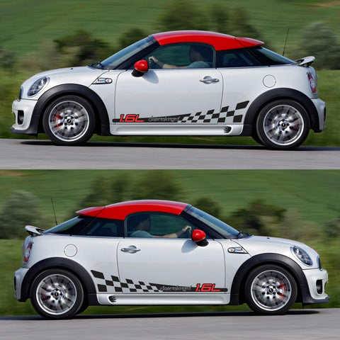 SPK-294 mini cooper coupe roadster r58 r59 racing stripes sticker works decal kit turbo john monsters fast boost - Infinity270
