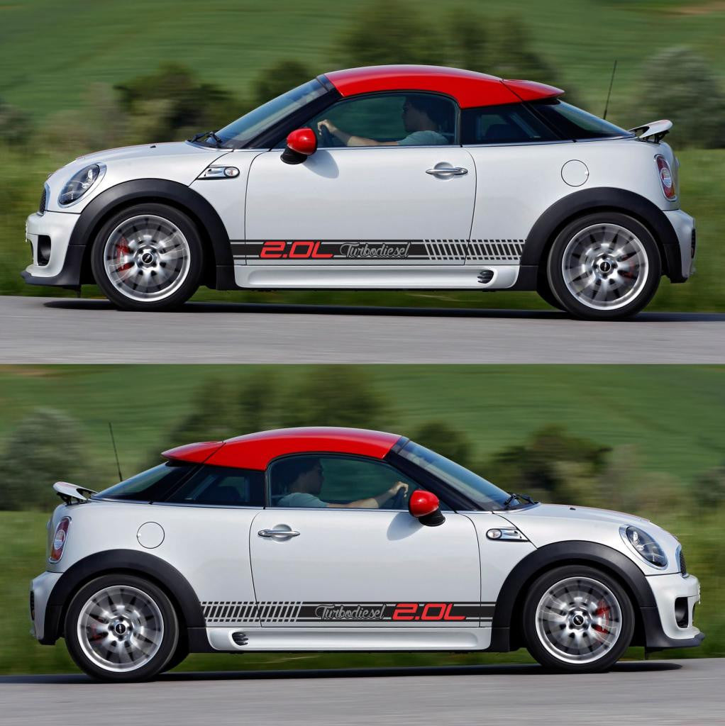 Mini Cooper R58 R59 Stripes Sticker Infinity270