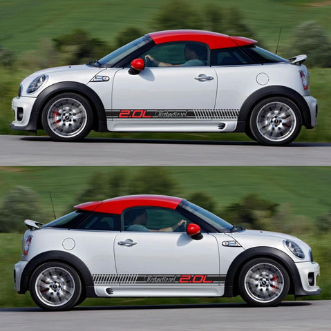 SPK-295 mini cooper coupe roadster r58 r59 racing stripes sticker works decal kit turbo john one all4 turbo - Infinity270