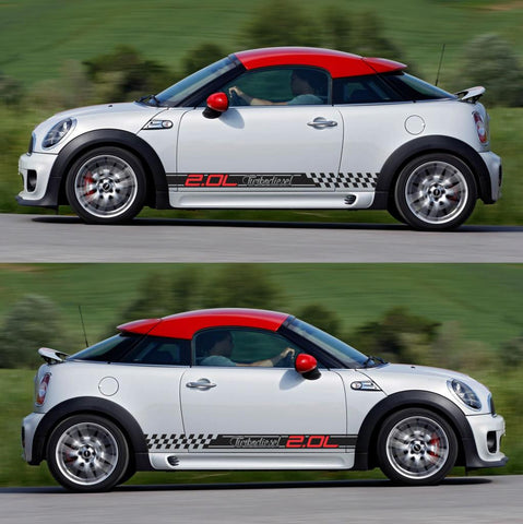 SPK-298 mini cooper coupe roadster r58 r59 racing stripes sticker works decal kit turbo john performance boost turbo - Infinity270