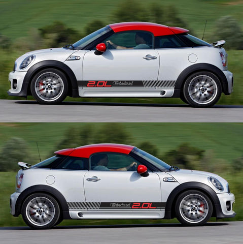 SPK-301 mini cooper coupe roadster r58 r59 racing stripes sticker works decal kit turbo john modified fast tuned all4 - Infinity270