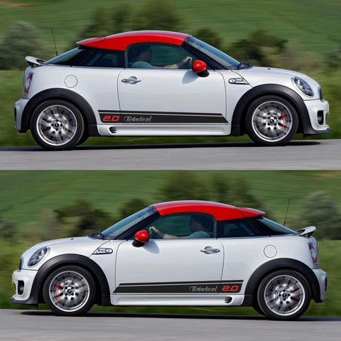 SPK-302 mini cooper coupe roadster r58 r59 racing stripes sticker works decal kit turbo john tuned boost drive fast - Infinity270