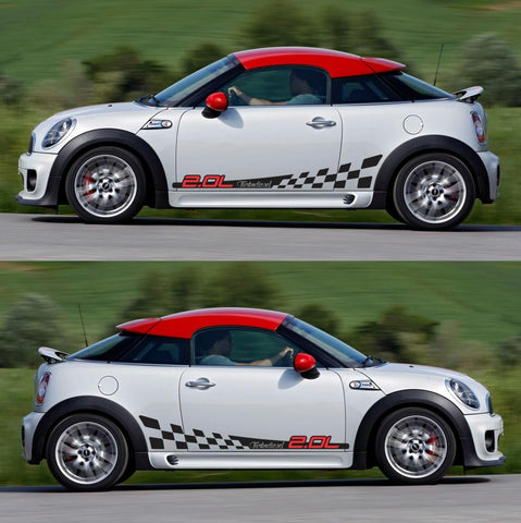 SPK-303 mini cooper coupe roadster r58 r59 racing stripes sticker works decal kit turbo john turbo all4 tuned oem drift - Infinity270