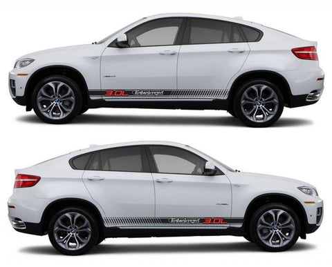 SPK 321 bmw x6 motorsports e71 racing stripes sticker decal euro turbo 3.0L turbocharged tuned suv sports performance - Infinity270