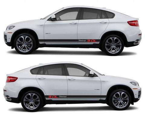 SPK 322 bmw x6 motorsports e71 racing stripes sticker decal euro turbo 3.0L turbocharged fast suv sports petrol - Infinity270