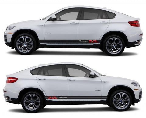 SPK 323 bmw x6 motorsports e71 racing stripes sticker decal euro turbo 3.0L turbocharged tuned boost twin sports - Infinity270