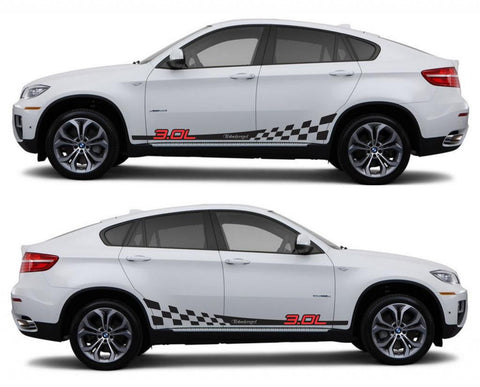 SPK 327 bmw x6 motorsports e71 racing stripes sticker decal euro turbo 3.0L turbocharged tuned modified boost twin sports - Infinity270
