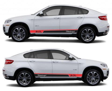 SPK 329 bmw x6 motorsports e71 racing stripes sticker decal euro turbo 3.0L turbocharged performance sports tuned suv boost - Infinity270