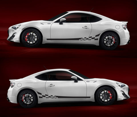 SPK - 011 Toyota GT 86 Checkered TRD FR-S Subaru Hachi-Roku Sport Car Stripes Kit Sticker