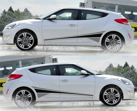 SPK 027 - hyundai veloster racing stripes sticker decal kit kammback coupe dual color korea turbo speed fast 3 doors - Infinity270