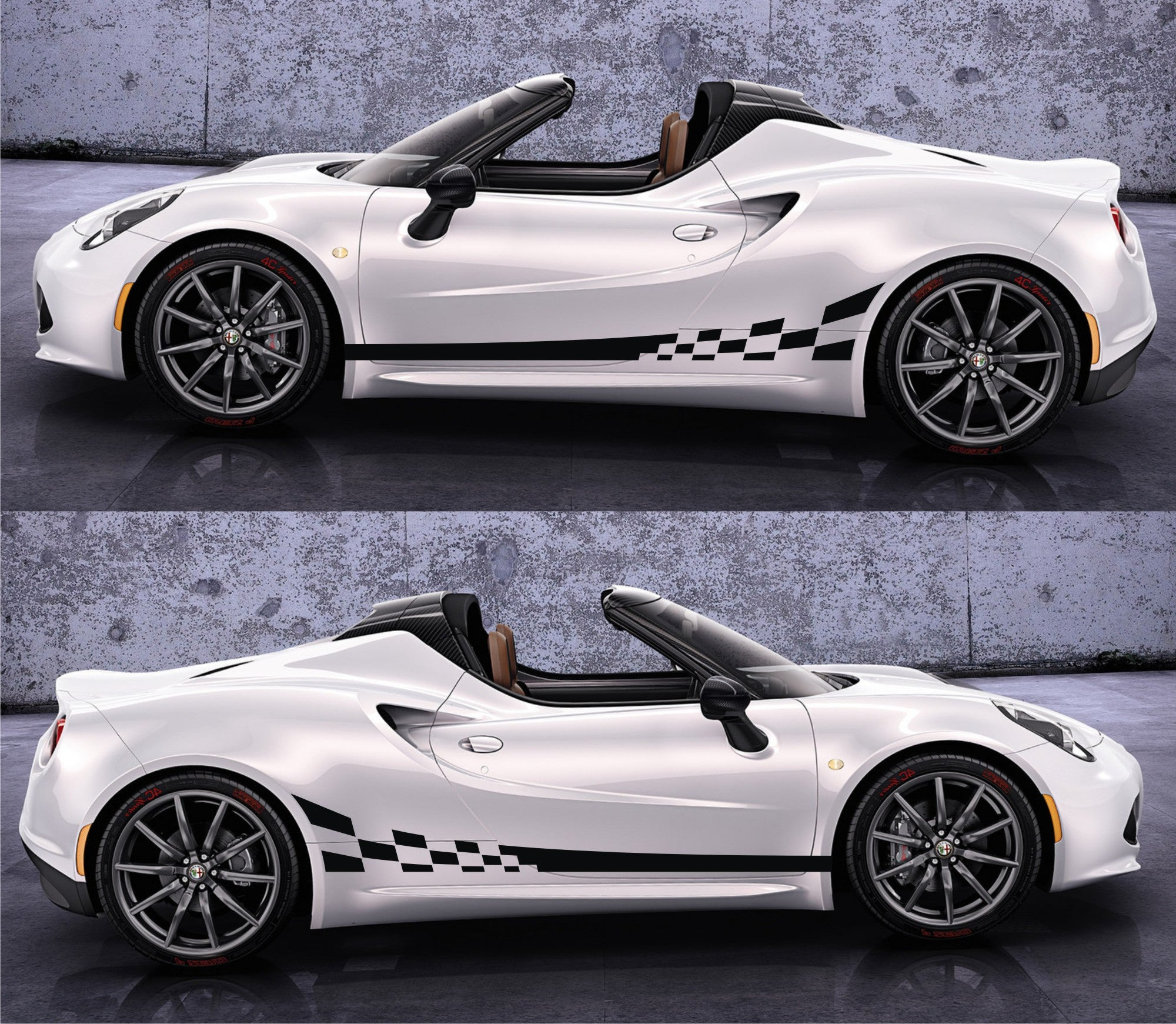 car stripes and graphic kit infinity270 alfa romeo 33 stradale spk 046 alfa romeo 4c racing stripes sticker decal kit type 960 sports car coupe competizione turbocharged italy spider 1 7l infinity270