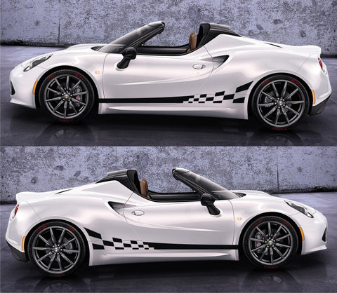 SPK 046 - alfa romeo 4c racing stripes sticker decal kit type 960  sports car coupe competizione turbocharged italy spider 1.7L - Infinity270