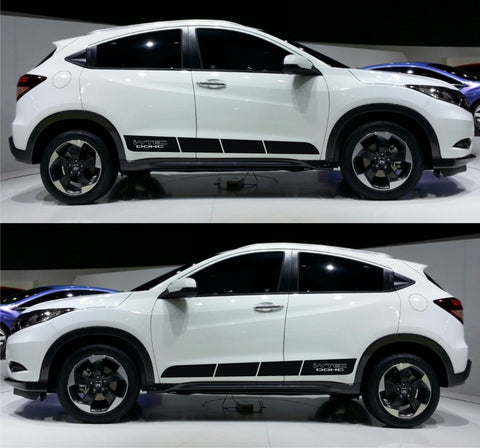 honda stickers hr-v vezel racing stripes sticker decal kit jdm mini suv 1.5L japan mugen spoon lower subcompact crossover SPK 067 - Infinity270