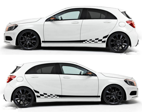 SPK 071 - mercedes benz A-Class W176 hatchback 5 doors racing stripes sticker decal kit germany amg A45 euro - Infinity270