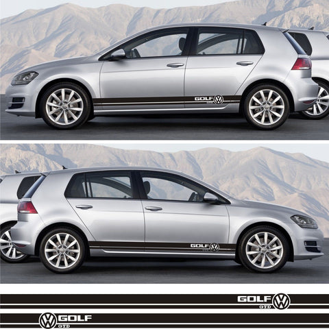 vw stickers Volkswagen Golf GTD Mk.1 2 3 IV V Car Side Racing Stripes Kit Sticker euro fitment instagram tuned drift turbo lower - Infinity270