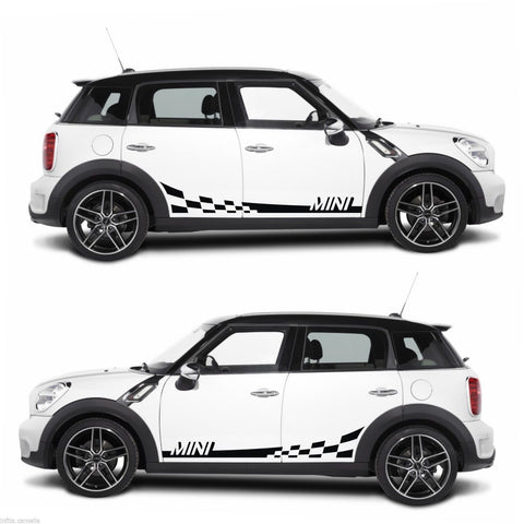 Mini Cooper Stripe Kit Sticker One S Clubman Roadster Coupe Countryman sports - Infinity270