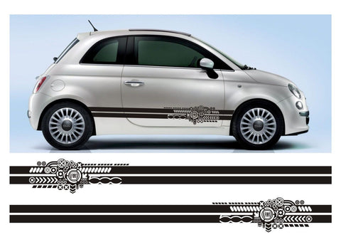 All Year Fiat 500 Stripe Sticker Kit Italy Italian Cinquecento Abarth - Infinity270