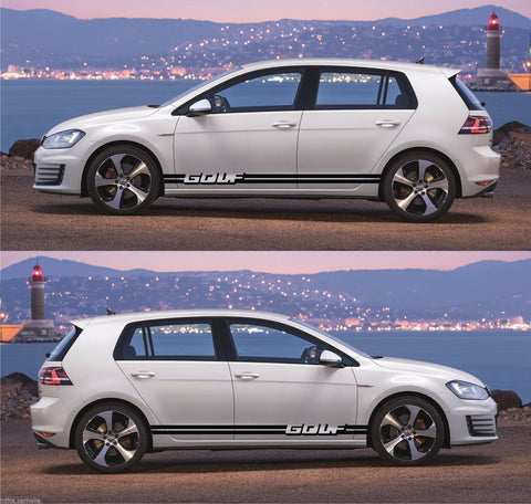 Volkswagen VW Golf Mk.1 2 3 IV V Plus Car Side Racing Stripes Kit Sticker SSK-025 - Infinity270