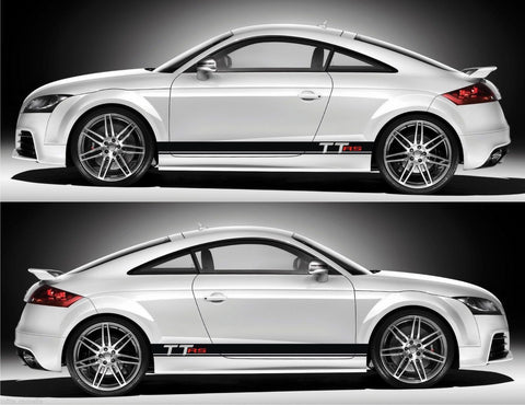 SSK 053 Audi TT RS TTS Coupe Roadster 2.5L Turbocharged Racing Stripes Kit Sticker luxury instagram energy stance euro - Infinity270