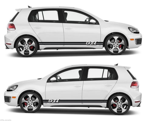 SSK 061 - Volkswagen GTI VW 2.0L Turbo  Door TDI Car Stripes Kit Sticker V5 - Infinity270
