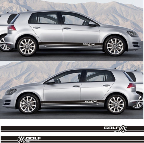 SSK 070 - Volkswagen VW Golf GTI Mk.1 2 3 IV V Plus Car Side Stripe Kit Sticker - Infinity270
