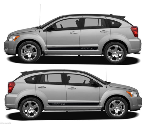 Dodge Caliber 2.0 GEMA CVT2 FWD DOHC V16 Turbo Racing Stripes Kit Sticker drift - Infinity270
