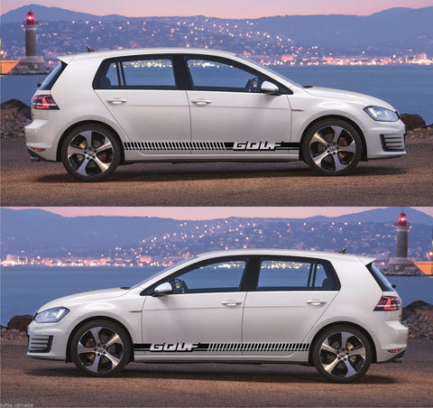 vw stickers Volkswagen Golf GTI Car Side Stripe Kit Sticker euro germany speed modified drift turbo stance drag decal - Infinity270