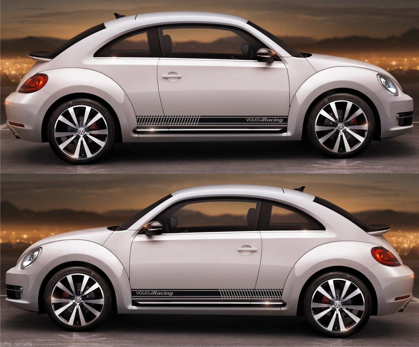 Ssk 088 volkswagen volks racing beetle r line gsr turbo tsi turbo stripe kit sticker infinity270