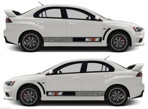 Mitsubishi Bomb Stripes Sticker Ralliart mivec Lancer Evolution Outlander evo jdm japan - Infinity270  - 1