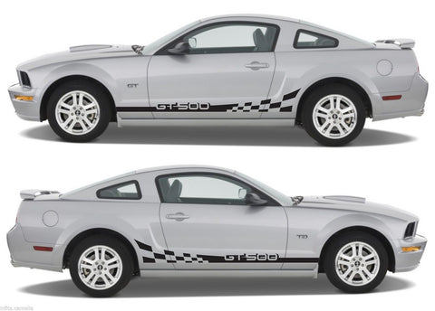 Ford Mustang Shelby gt 500 Racing Car Stripes V6 V8 Checkered Kit Sticker drive fast - Infinity270