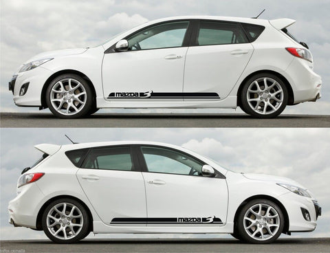 Mazda 3 Skyactiv Hatchback Sedan Axela Turbo Racing Stripes Sticker Kit V5 - Infinity270