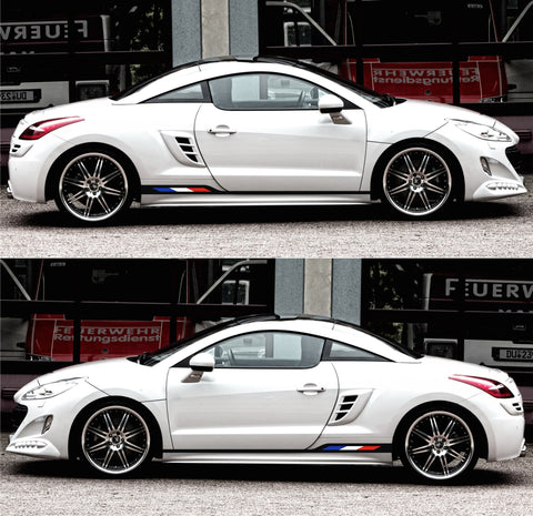 Peugeot rcz France flag thp Turbo hdi Coupe Racing Sticker Decal Adhesivi Autocollant stripes kit - Infinity270