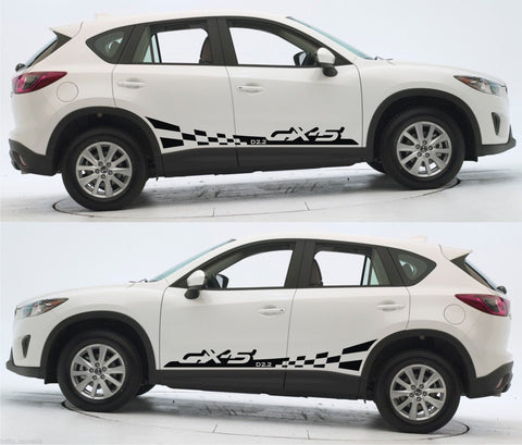 Mazda CX-5 Skyactiv Compact SUV Gasoline 2.0 L Racing Stripes Sticker Kit v3 - Infinity270