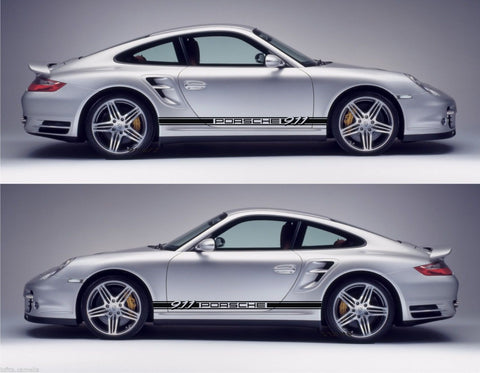 Porsche Sticker 991 GT2 993 996 997 Racing Stripes Kit 2 door Coupe Cabrio sport car - Infinity270