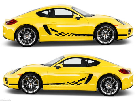 Porsche Cayman 981C S987 Racing Stripes Sticker Kit Drift Euro Boxster Cabrio motorsport - Infinity270
