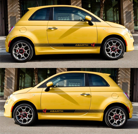 Euro fiat abarth 500c 500 Grande Punto Racing Stripes Italy Sticker Turbo motorsport performance - Infinity270