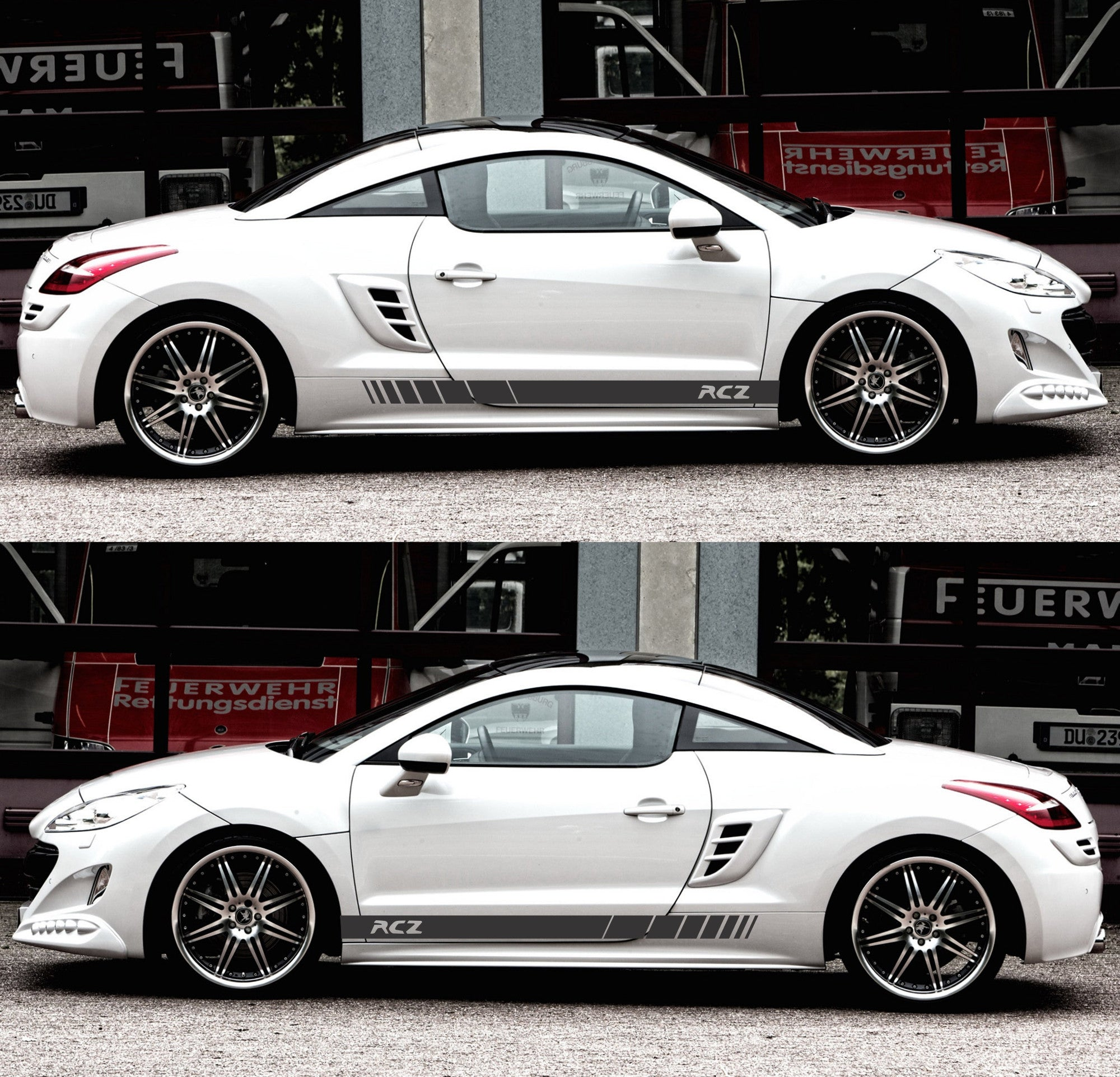Peugeot rcz France Turbo Coupe Racing Sticker Decal v1 | Infinity270