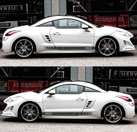 SSK401 Peugeot rcz France thp Turbo hdi Coupe Racing Sticker Decal Adhesivi Autocollant stripes kit - Infinity270