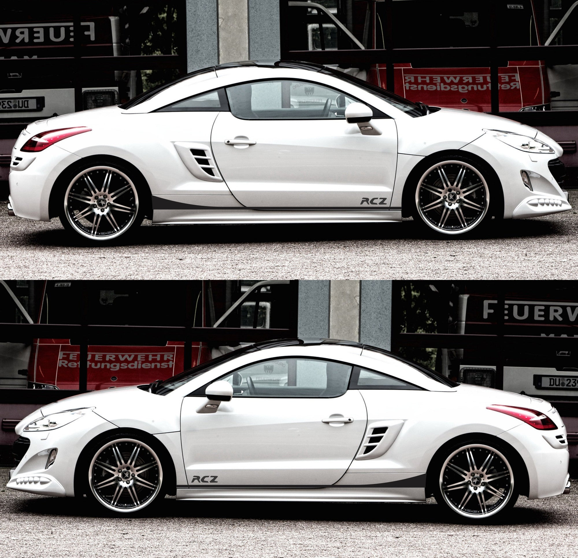 peugeot rcz france turbo coupe racing sticker decal v2. Black Bedroom Furniture Sets. Home Design Ideas