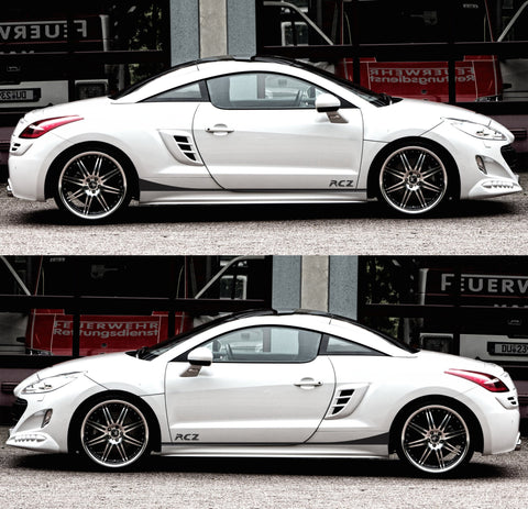 SSK402 Peugeot rcz France thp Turbo hdi Coupe Racing Sticker Decal Adhesivi Autocollant stripes kit amg lowered sports tuned - Infinity270