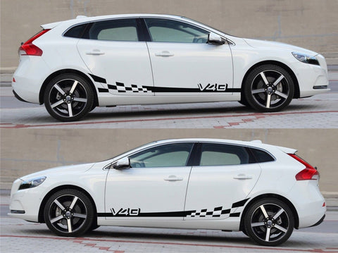 SSK 502 - Volvo V40 Hatchback Drift Rally Ford Duratorq Racing Car Stripes Sticker Kit V3 - Infinity270