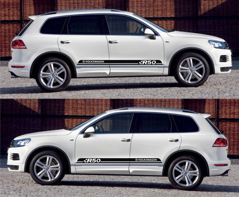 SSK 504 - Volkswagen Volks Racing Touareg R50 FSI TSI Blue Motion Stripe Kit Sticker G1 - Infinity270