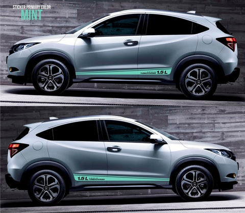 honda stickers hr-v vezel crossover racing stripes sticker decal kit cvt earth dreams suv vti i-vtec sohc japan jdm oem mpg lower SSL-026 - Infinity270