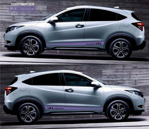 honda stickers hr-v vezel crossover racing stripes sticker decal kit cvt earth dreams suv vti i-vtec sohc jdm mugen japan spoon turbo SSL-036 - Infinity270