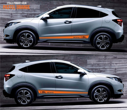 honda stickers hr-v vezel crossover racing stripes sticker decal kit cvt earth dreams suv vti i-vtec sohc drag drift turbo petrol speed fast SSL-045 - Infinity270