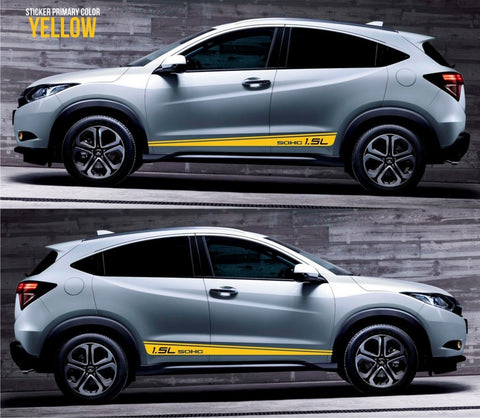 honda stickers hr-v vezel crossover racing stripes sticker decal kit cvt earth dreams suv vti i-vtec sohc formula diesel speed monster low tow SSL-047 - Infinity270