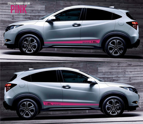 honda stickers hr-v vezel crossover racing stripes sticker decal kit cvt earth dreams suv vti i-vtec sohc compact jdm turbo stance low mugen SSL-049 - Infinity270