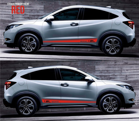 honda stickers hr-v vezel crossover racing stripes sticker decal kit cvt earth dreams suv vti i-vtec sohc formula monster energy lower cuv SSL-052 - Infinity270