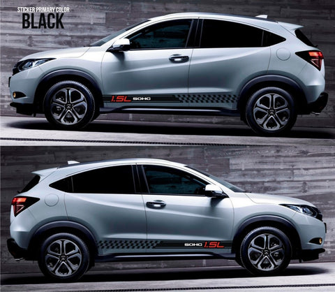 honda stickers hr-v vezel crossover racing stripes sticker decal kit cvt earth dreams suv vti i-vtec sohc hi-rider japan revolutionary vehicle auto SSL-076 - Infinity270